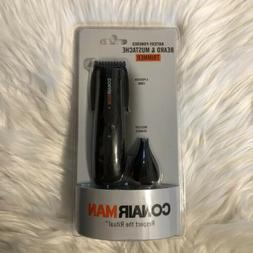 NEW Conair Man Trimmer Beard Mustache Nose Ear Battery Power