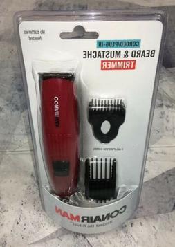 New Mens Sealed Conair Beard & Mustache Trimmer Corded Kit S