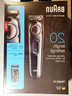 NEW SEALED Braun BT3020 Men's Beard Trimmer, Cordless, FREE