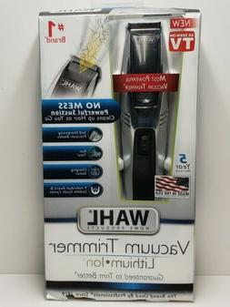 New Wahl Vacuum Trimmer Lithium Ion 9870