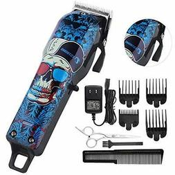 Professional Cordless Hair Clippers Beard Trimmer Men Kids W