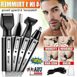 Rechargeable 4 In 1 Hair Beard Eyebrow Ear Nose Shaver Trimm