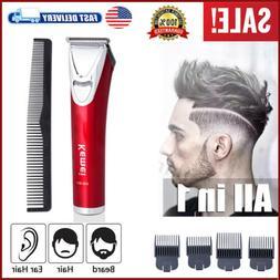 Rechargeable Men Pro Shaver Razor Beard Hair Clipper Trimmer