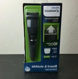Philips Norelco Series 3000 Cordless Beard Trimmer Adjustabl