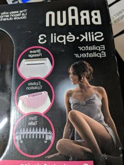 Braun Silk-epil 3-3270 Epilator With 3 extras: shaver head,