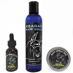 Badass Beard Care Badass Beard Wash, Beard Oil, and Beard Ba