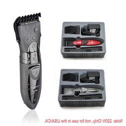 Waterproof Electric Hair Clipper Trimmer Mens Shaver Razor B