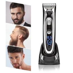 Wireless Hair Cut Clipper Beard Mustache Shaving Machine Tri